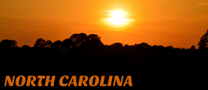 North Carolina sunset title header